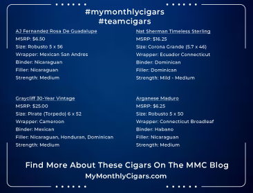 My Monthly Cigars - Box #25 - June 2021 - A Cigar Club For Everyone