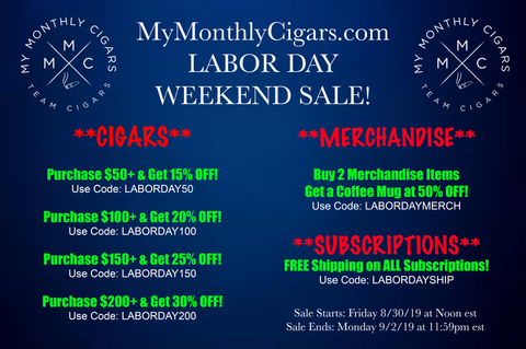My Monthly Cigars - Labor Day Sale