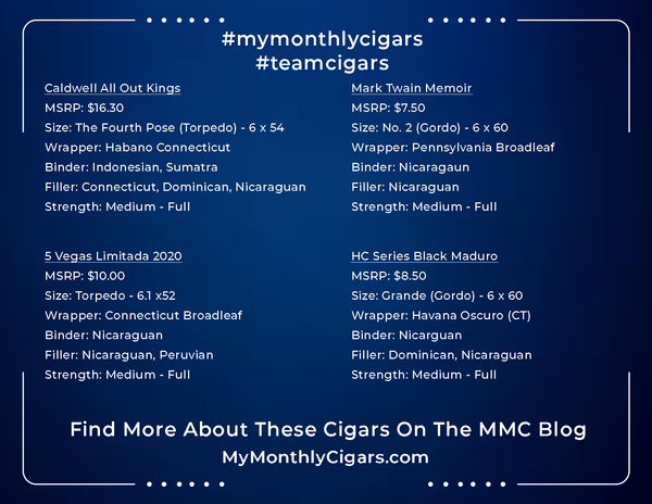 My Monthly Cigars - Box #17 - October 2020