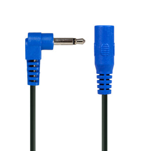 CABLE - BLUE RIGHT-ANGLE PHONE PLUG EXTENSION JUMPER