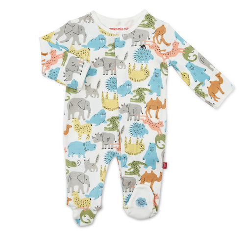 MAGNETIC ME ZOO CREW ORGANIC COTTON ONSIE