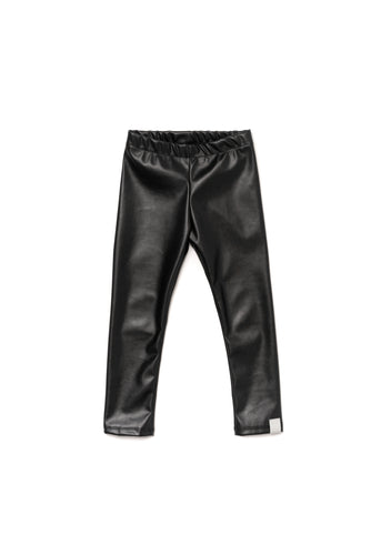 Omamimini Faux Leather Legging
