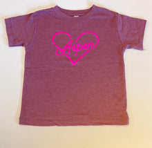 Load image into Gallery viewer, Aspen Heart Tee Pink
