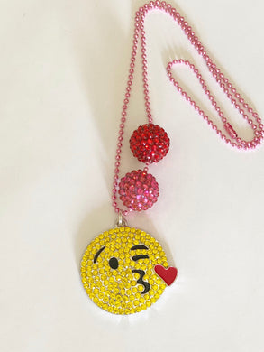 Tula & Aspen kiss emoji necklace