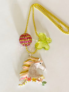 Tula & Aspen Sparkle Horse necklace