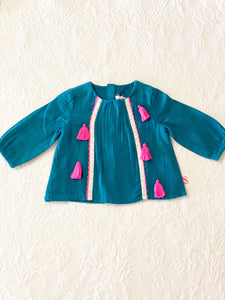 Billieblush Blouse with Contrast tassels 6 months
