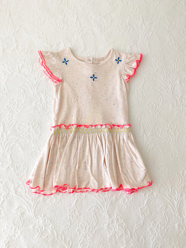 Billieblush Baby Jersey Dress w/ Smocking 12m