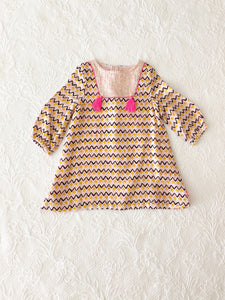 Billieblush Baby L/S Cheveron Dress 6 Months