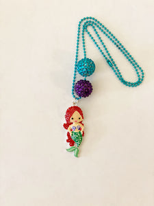 Tula & Aspen Ariel Mermaid Necklace