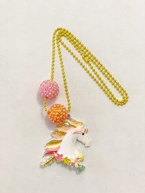 Tula & Aspen White Horse Necklace