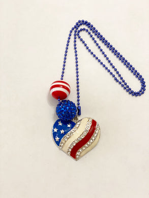 Tula & Aspen Americana Heart Necklace
