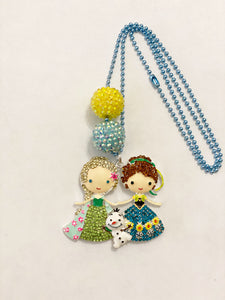 Tula & Aspen Elsa and Anna Necklace