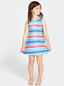 Sol Angeles Spray Stripe Flounce Dress