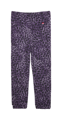 Spiritual Gangster Girls Perfect Sweatpants Lavender Cheetah