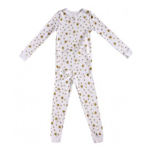 Skylar Luna White Star long sleeve Pajama