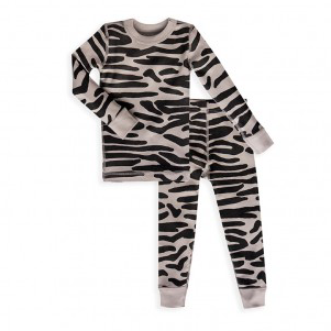 Skylar Luna Black Zebra long sleeve Pajamas