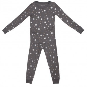 Skylar Luna Grey Stars long sleeve Pajama