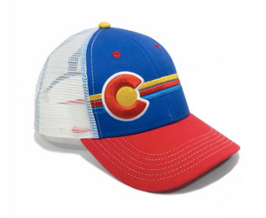 Yo Colorado Kids Candystripe Trucker Hat
