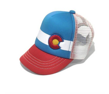 Load image into Gallery viewer, Lil Nugget Trucker Hat Red and Blue Toddler