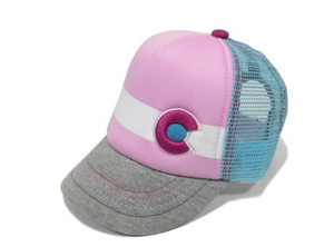 Lil Nugget Trucker Hat Pink and Grey  Infant