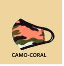 Kids Face Mask Camo Coral