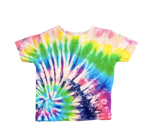Casey Altman Design rainbow tie dye short sleeve tee