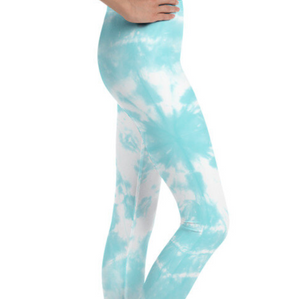 The Chakra Girl Express Legging Teal Tie Dye