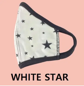 Face Mask Black/White Stars