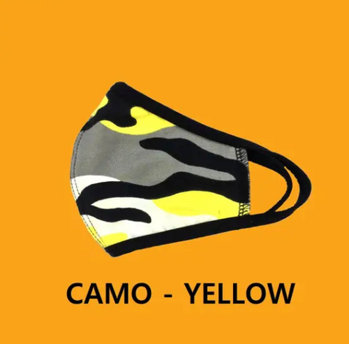 Face Mask Black/Yellow camo