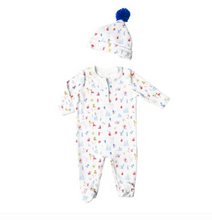 Load image into Gallery viewer, Petidoux Ski Memories Onesie and hat