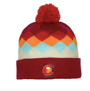 Yo Colorado Argyle Colorado Beanie
