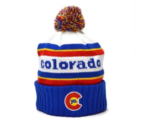 Yo Colorado Retro Classic Colorado Pom Beanie Adult