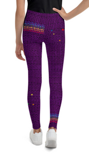The Chakra Girl Crown Chakra Legging Purple