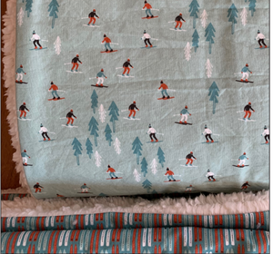 Gracies Stitches Ski Weekend Blanket