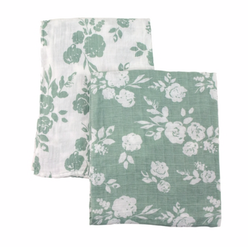 Vintage and Modern Floral Classic Muslin Swaddle Set
