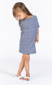 Omamimini Windowpane Dolman Sleeve Dress size 3T