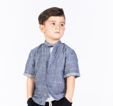 Omamimini Boys Button Down Shirt size 4