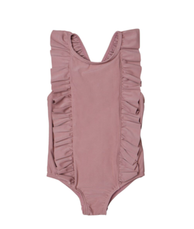 Berry Frill Swimsuit