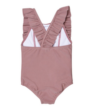 Load image into Gallery viewer, Berry Frill Swimsuit
