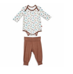 dinogami modal magnetic bodysuit and haram pant 9-12 months