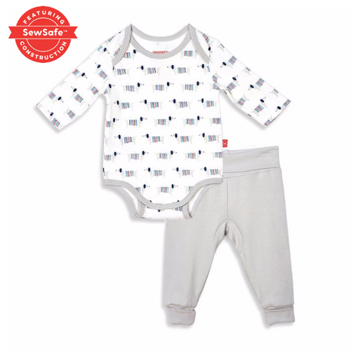 Magnetic Organic Cotton Onsie and Haram Pant