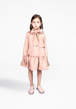 Load image into Gallery viewer, Omamimini Ruffled Dress with a Front Bow 3T and 4
