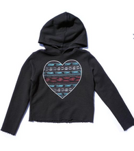 Load image into Gallery viewer, Sol Angeles Indio Heart Crop Hoodie