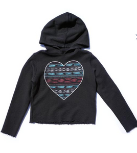 Sol Angeles Indio Heart Crop Hoodie
