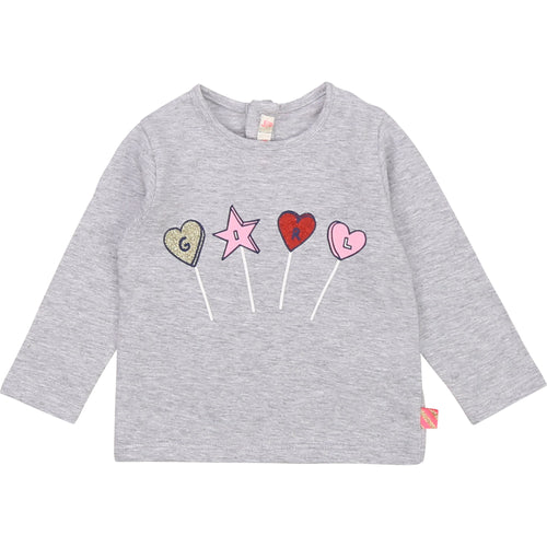 Billieblush Baby Long Sleeve Lollipop Tee