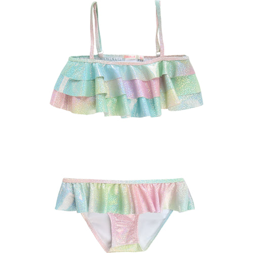 Ruffle 2 Piece Swim Suit