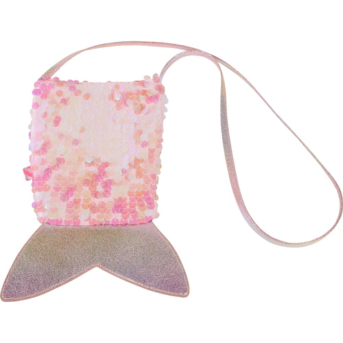 BILLIEBLUSH IRIDESCENT SEQUIN MERMAID TAIL BAG