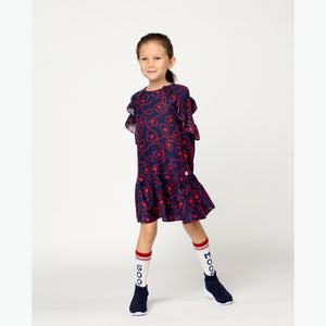 Billieblush Long Sleeve Heart Print Dress size 2 and 8