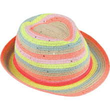 Load image into Gallery viewer, Billieblush Multicolored Straw Fedora