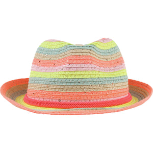 Billieblush Multicolored Straw Fedora
